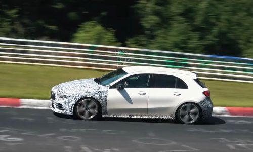 2019 Mercedes-AMG A 35 spotted testing at Nurburgring (video)