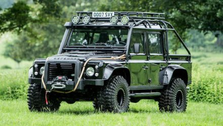 For Sale: Land Rover Defender SVX used in 007 film Spectre