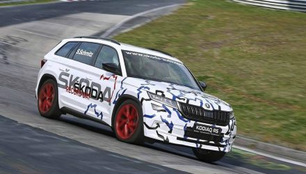 Upcoming Skoda Kodiaq RS claims 7-seat SUV Nurburgring record (video)
