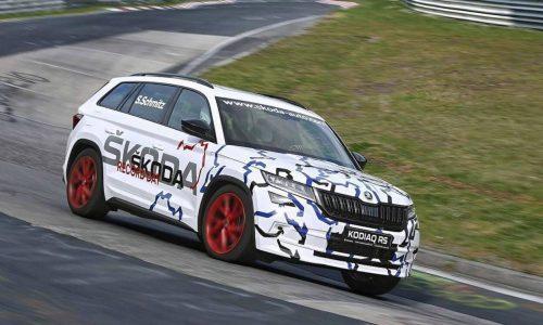 Upcoming Skoda Kodiaq RS claims 7-seat SUV Nurburgring record (video)