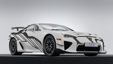 Lexus LFA art car created to celebrate 10th anniversary of F brand