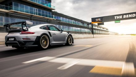 Porsche 911 GT2 RS sets pace at The Bend Motorsport Park (video)