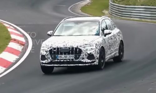 2019 Audi RS Q3 & SQ3 spotted at Nurburgring, sound great (video)