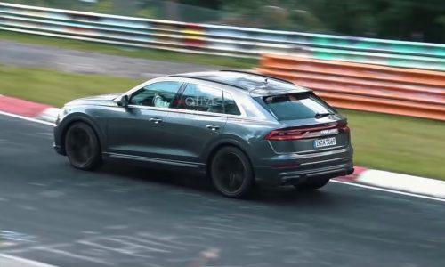 Audi SQ8 spotted testing hard at Nurburgring (video)