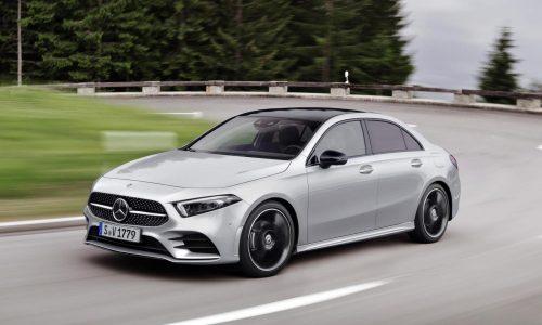 2019 Mercedes-Benz A-Class sedan revealed