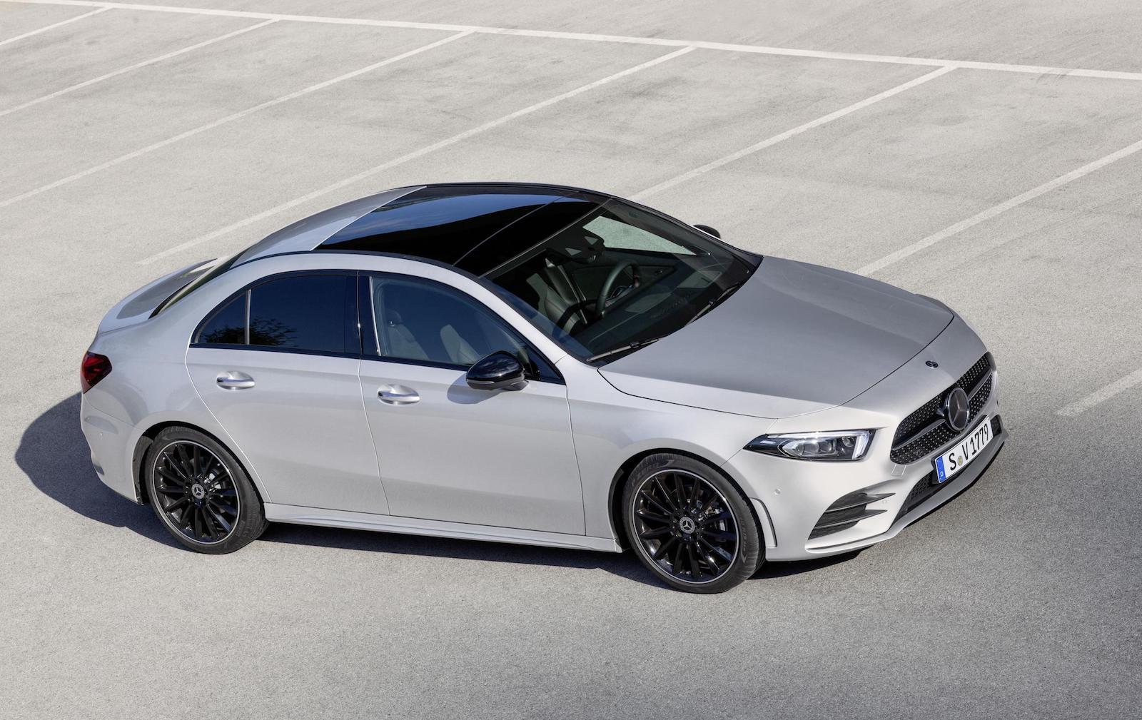 2019 mercedes benz a class sedan revealed performancedrive. Black Bedroom Furniture Sets. Home Design Ideas