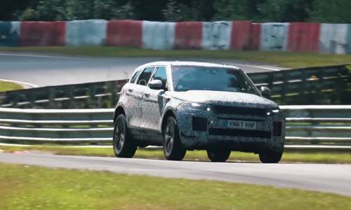 2020 Range Rover Evoque spotted, diesel hybrid under development (video)