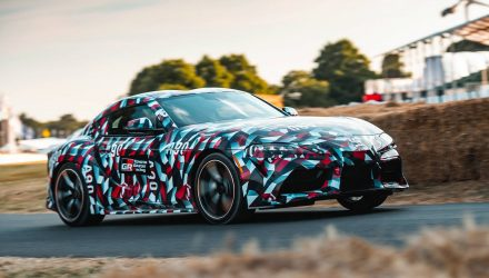 A90 Toyota Supra makes driving debut at Goodwood (video)
