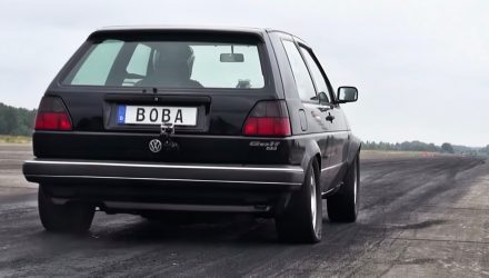 Volkswagen Golf Mk2 sets DSG AWD world record 1/4 mile (video)