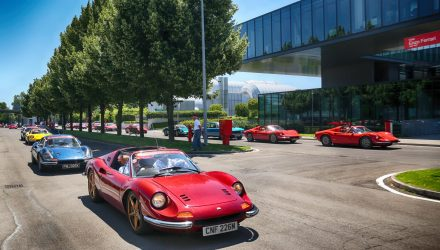 Ferrari Dino parade of 150 sets record for 50th anniversary