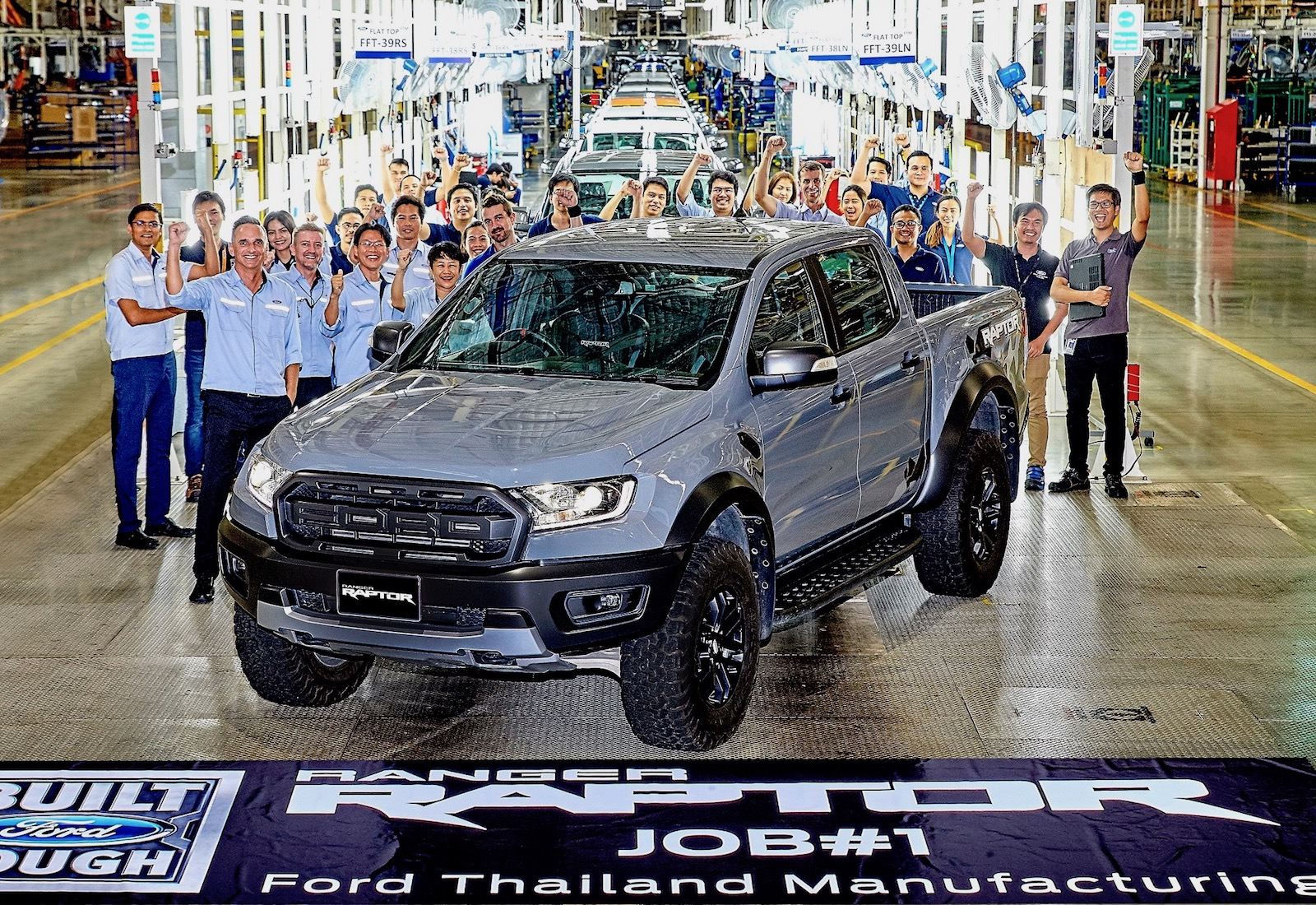 First Ford Ranger Raptor rolls off production line in Thailand | PerformanceDrive