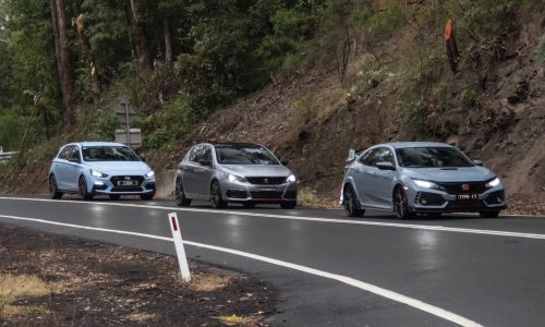Honda Civic Type R vs Hyundai i30 N vs Peugeot 308 GTi: Comparison (video)