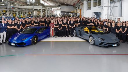 Lamborghini Aventador production hits 8000, Huracan hits 11,000