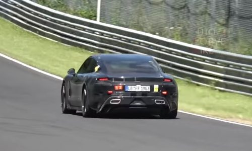 Porsche Taycan spotted at Nurburgring, looks fast (video)