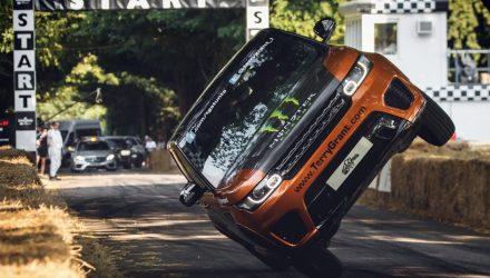 Range Rover Sport SVR sets world record two-wheel run at Goodwood (video)