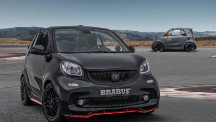Brabus 125R converts Smart ForTwo cabrio into racy city car