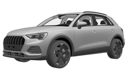 2019 Audi Q3 patent images suggest electrified variant?