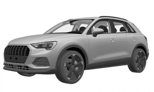 2019 Audi Q3 patent images suggest electrified variant?