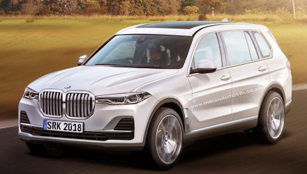 BMW X7 rendering surfaces, potentially accurate representation
