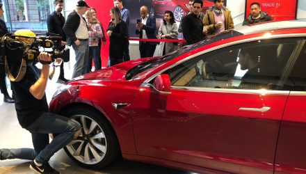 Tesla Model 3 makes Australian debut, in LHD form
