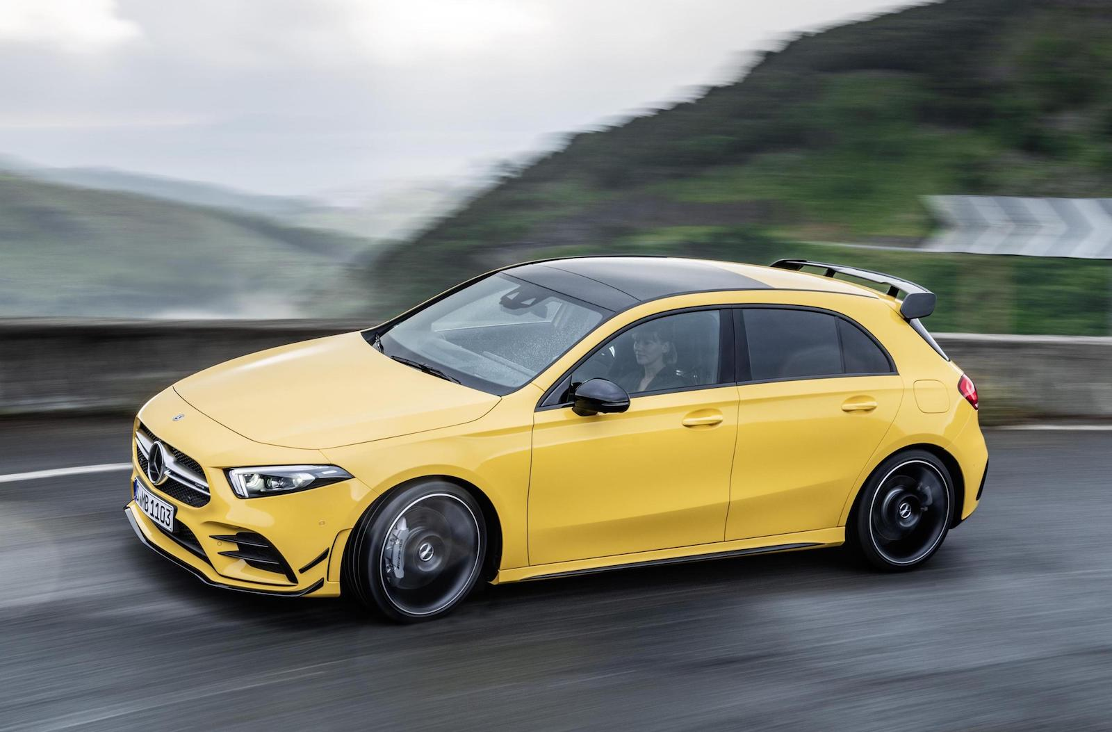 2019 mercedes amg a 35 hot hatch revealed performancedrive. Black Bedroom Furniture Sets. Home Design Ideas
