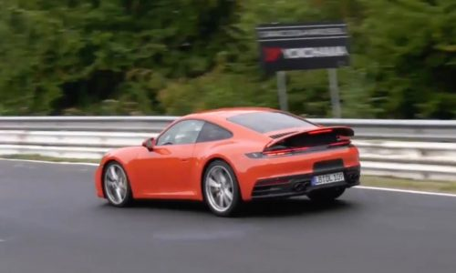2019 Porsche '992' 911 spied without camouflage, looks fast (video)