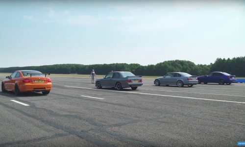 Video: 4 generations of BMW M3 drag race for fun