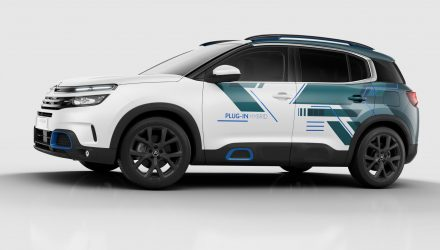 Citroen C5 Aircross hybrid concept previews 2020 showroom model