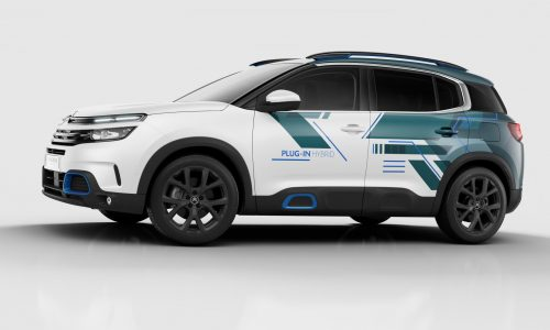 Citroen C5 Aircross hybrid concept previews 2020 showroom model