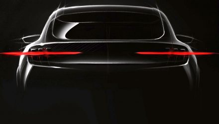Ford Mustang-inspired electric SUV previewed