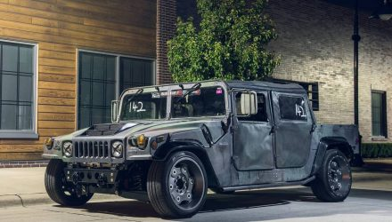 Mil-Spec Hummer H1 is ready for the track... wait, what?