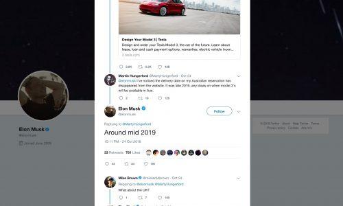 """Tesla Model 3 Australian deliveries confirmed for """"mid 2019"""""""