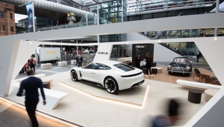 Porsche Mission E makes Australian debut at 'Future Lab' pop-up