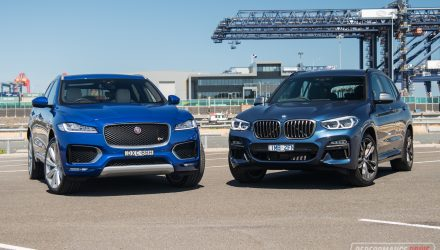 2018 Jaguar F-PACE S vs BMW X3 M40i: Performance SUV comparison (video)