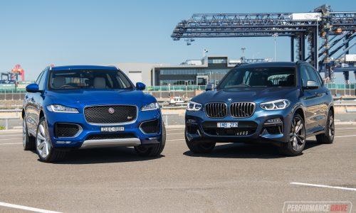 2018 Jaguar F-PACE S vs BMW X3 M40i: Performance SUV comparison (video)