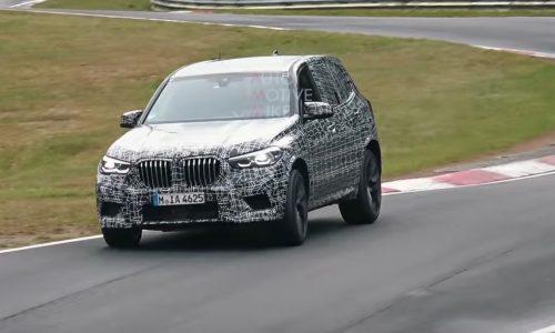 2019 BMW X5 M spotted belting around Nurburgring (video)