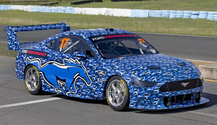 2019 Ford Mustang Supercar Hits The Track Looks Weird