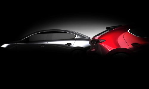 2019 Mazda3 previewed again before LA show debut