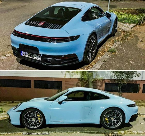2019 porsche 39 992 39 911 spotted in stunning gulf blue performancedrive. Black Bedroom Furniture Sets. Home Design Ideas