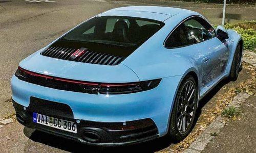 2019 Porsche '992' 911 spotted in stunning Gulf blue