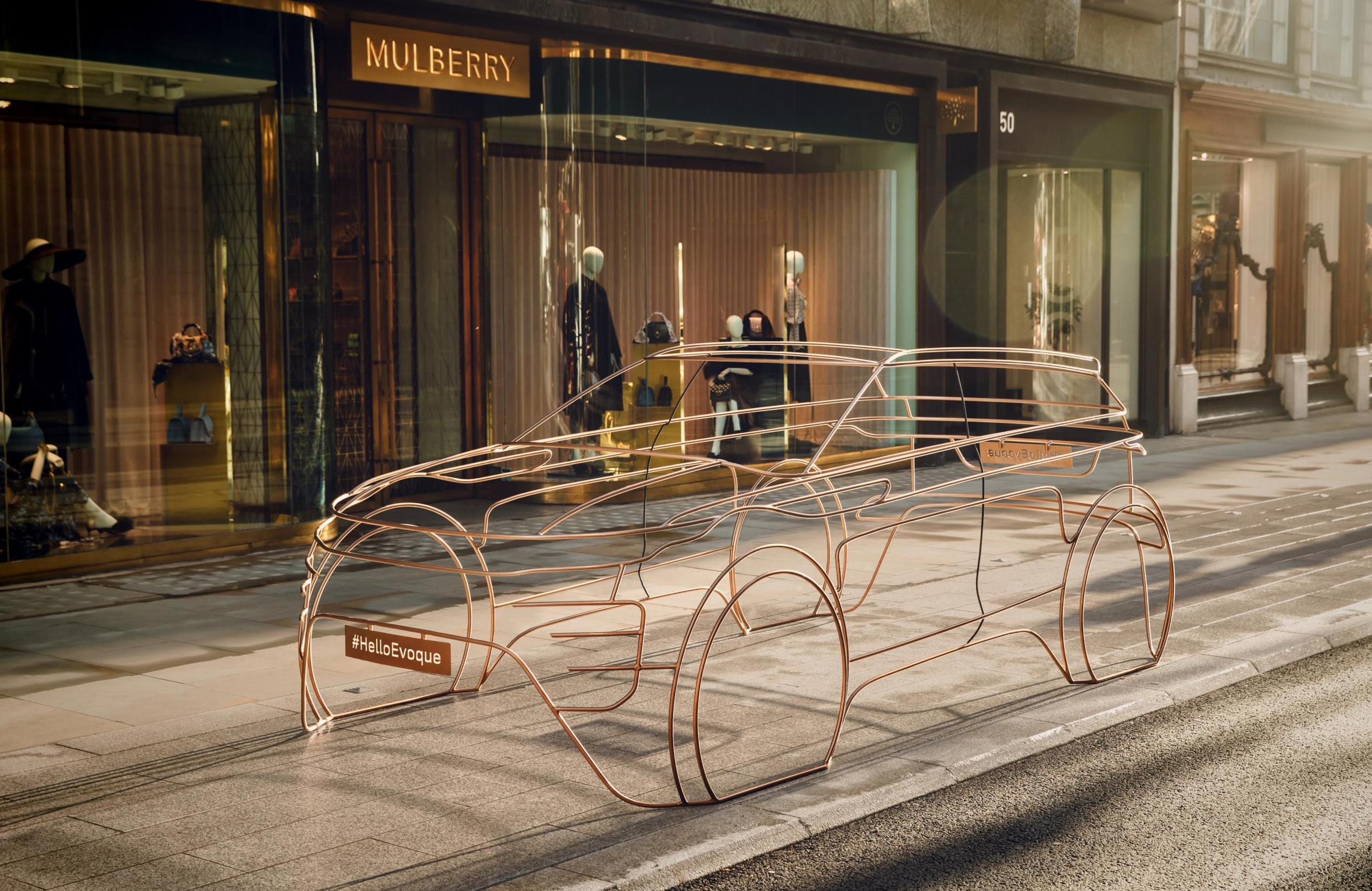 Range Rover Evoque Teased As Wire Sculpture