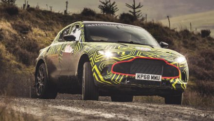 Aston Martin DBX named confirmed, first prototype hits the mud