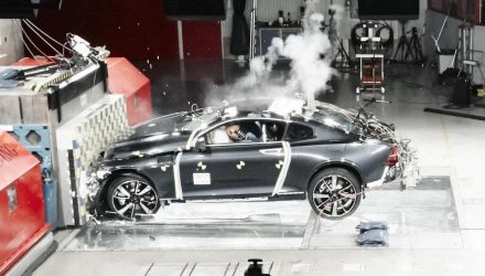 Polestar 1 undergoes first crash tests with carbon fibre body