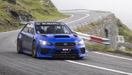 Subaru WRX STI sets Transfăgărășan Highway record (video)