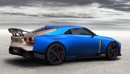2019 Italdesign Nissan GT-R50 blue-rear