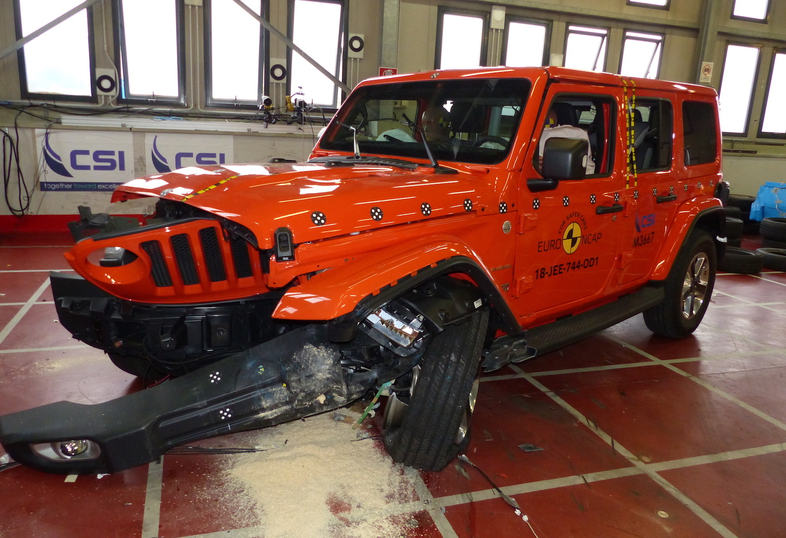 New Jeep Wrangler does terribly in European crash tests