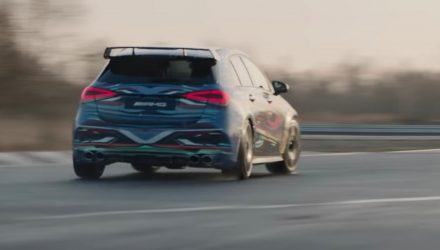 2019 Mercedes-AMG A 45 previewed, lots of drifting (video)