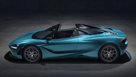 McLaren 720S Spider-side roof down