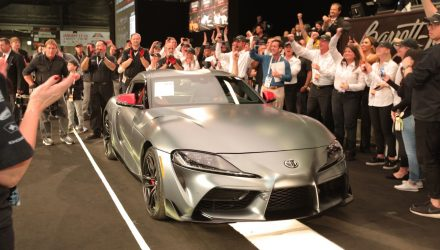 Toyota GR Supra build #1 sells for $2.1m at auction