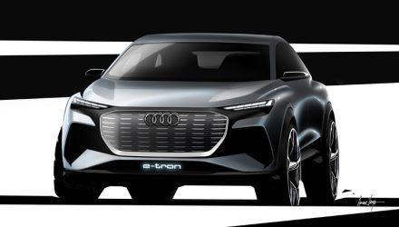 Audi Q4 e-tron SUV previewed ahead Geneva debut